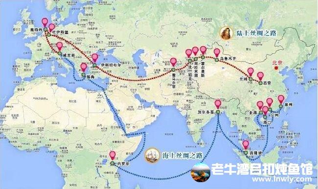 摩洛哥旅游手绘路线图